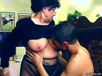 Sexy granny fucked in restaurant | -sexy-