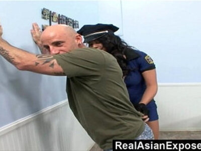 RealAsianExposed Police asian bitch cant resist a rock hard long black dick | -asian-bitch-black cock-cunnilingus-dick-officer-