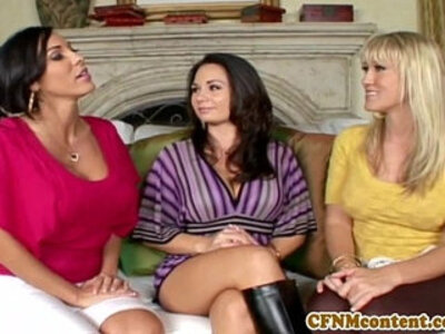 CFNm lover Holly West in an anal fourway | -anal-cfnm-mistress-