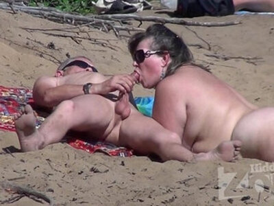 Blowjob on a nudist beach | -beach-blowjob-hidden-