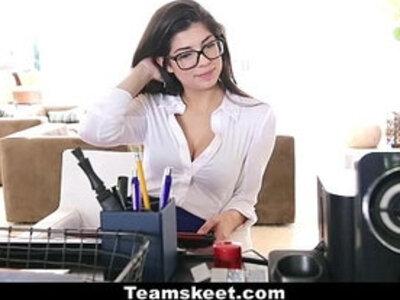 CFNMTeens Horny Secretary Fucks Her Boss! | -boss-horny-office-secretary-
