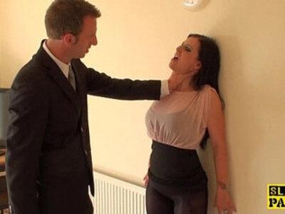 British sub dominated with dick | -british-cum swallow-dick-