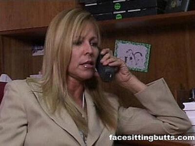 Mature blonde secretary fucks a black guy for the bill | -black-blonde-gay-mature-money-secretary-