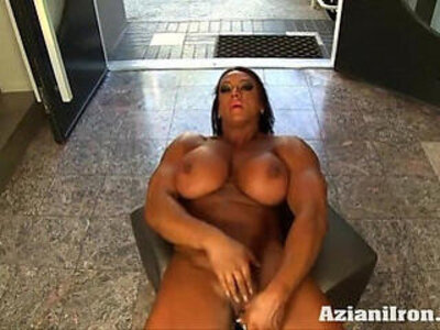Aziani Iron Amber Deluca Amazon Bodybuilder with round Huge Clit | -clit-huge tits-round-