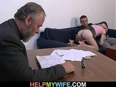 Desperate husband pays a stud to fuck his wife | -husband-wife-