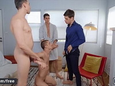 Four Stunning Muscular Fraternity Brothers Bareback Each Other Until They Cum - Men | -brother-cum-fitness-gay-stunning-