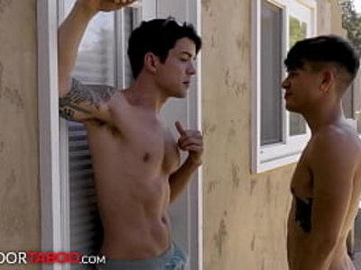 New Step-Brothers Get Flirty At Beach Before Having Passionate Sex - NextDoorTaboo | -beach-brother-old man-