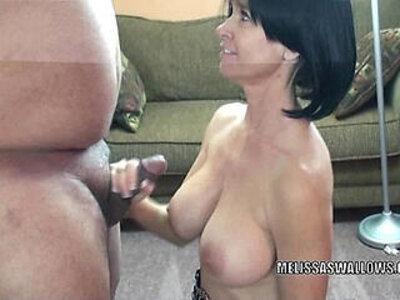 Mature slut Melissa Swallows is blowing a stranger   -cougar-mature-sluts-stranger-swallow-