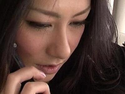 Strong fuck for brunette Japanese Ishiguro | -ass licking-brunette-hottie-japanese-