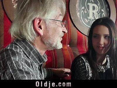 Sweet girl seduces naive grandpa for cumshot taste | -cumshots-grandpa-seduction-sweet-young-
