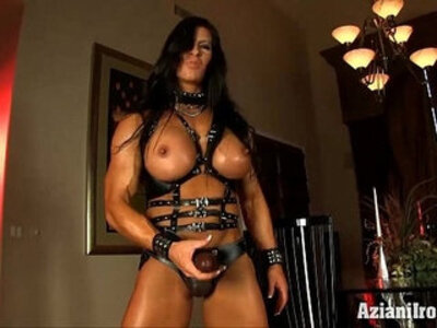 Aziani Iron Angela Salvagno in leather with strap | -huge cock-leather-strapon-