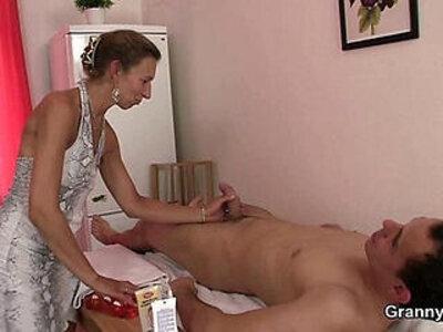 Granny masseuse gets hairy hole nailed | -bdsm-granny-hairy-massage-