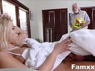 Hot Step Mom Fucks Son Under The cover   -son-stepdaughter-stepmom-