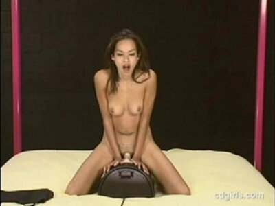 Asian girl Daisy rides the sybian to orgasm for the first time | -asian-first time-orgasm-sex machine-