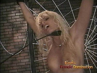 Skinny blonde wench lets her domina whip and spank her hard | -blonde-skinny-spanking-whip-