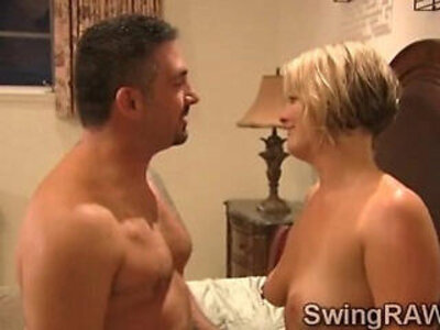 Hot blondies and some drinks turn this reality in a XXX swingers show | -reality-swingers-