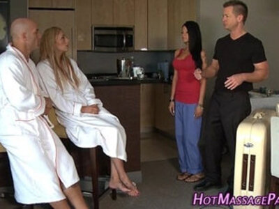 Masseuse facial 4some | -4some-cum in mouth-facials-massage-