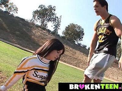 Cute cheerleader drains the coachs balls | -balls-cheerleader-cute-