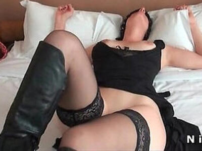 Amateur big boobed french milf in lingerie with nice round boobs gets banged by John doe | -amateur-banged-boobs-french-lingerie-round-