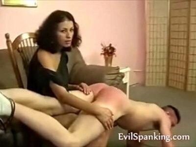 Angry MILF spanking lover | -milf-pain-spanking-