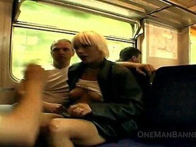 Public daring sex and flashing on a train | -flashing-old man-public-