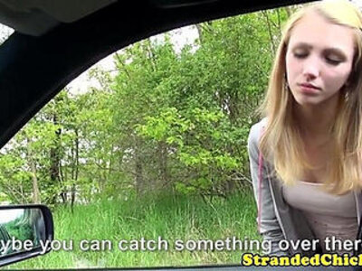 Young hitchhiker pays ride with pussy | -hitchhikers-pussy-riding-young-