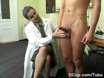 Busty Medical Captain enjoying new recuits cum shower | -busty-cum-doctor-enjoying-shower-