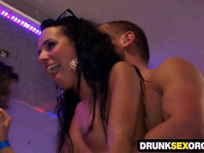 Hot boozed ladies sucking and fucking at the party | -drunk-lady-party-sucking-