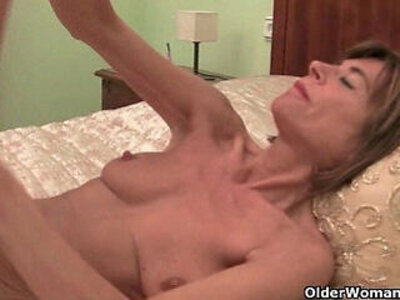Skinny grannies Bossy Rider and Maria stripping off | -granny-skinny-striptease-