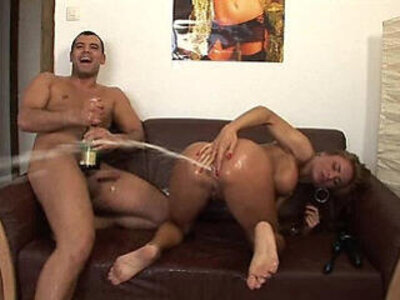 dirty tramp takes a champagne bottle in her ass | -ass-bottle-dirty-insertion-