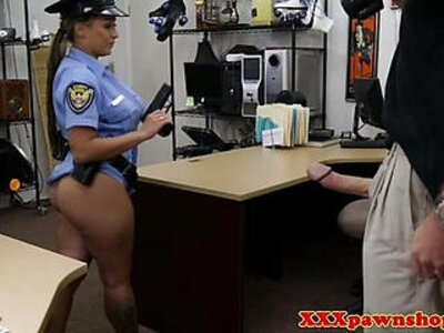 Uniform pawnshop slut dicksucking for cash | -cash-hidden-shop-sluts-uniform-