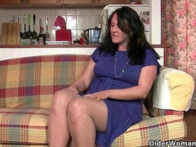 British granny works her pantyhosed old pussy | -british-grandma-older-pussy-