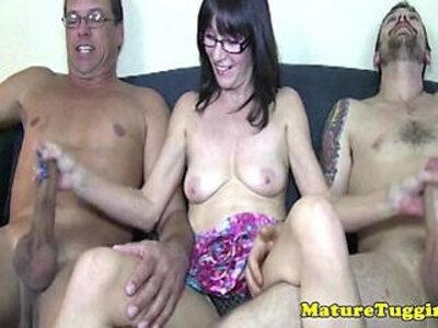 Upskirt mature tugging two cocks at sametime | -cock-lady-mature-upskirt-