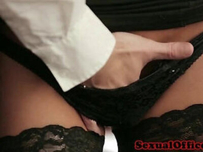 Office secretary in stockings gets fucked on desk | -glasses-office-secretary-stockings-