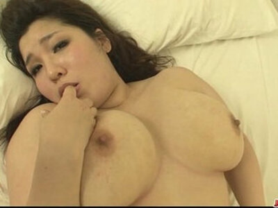 Plump and busty babe Yume Sazanami finger fucked and pussy pounded | -busty-fingering-huge tits-plump-pounding-pussy-