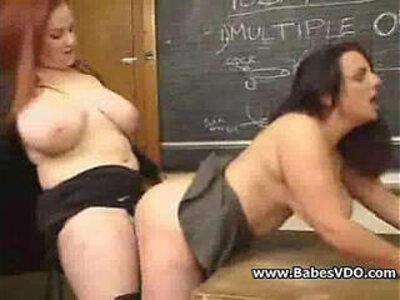 Busty teacher fucks her Busty student | -busty-students-teacher-