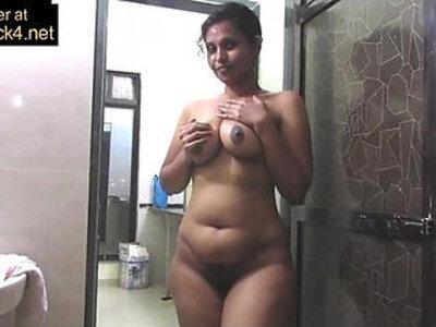 Mature Indian Mom Pressing Big Desi Tits In Shower Masturbation | -big tits-desi-indian-masturbation-mature-shower-