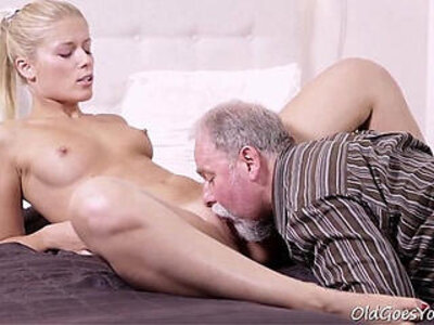 Old Goes Young Elena cant believe how good this old man is at having sex   -cunnilingus-old man-older-young-