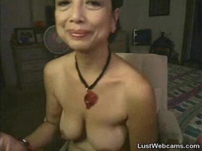 Asian granny masturbates on webcam | -asian-camshow-masturbation-webcam-