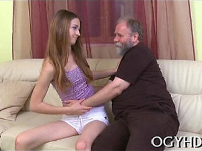 Young hottie licks and rides old rod | -hottie-old and young-older-young-
