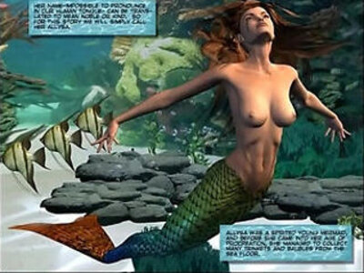 3D Comic Mermaid | -3d-old and young-