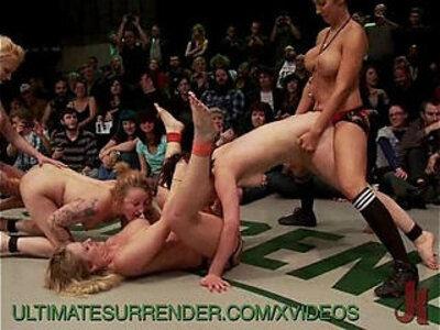 Live Lesbian Tag Team Wrestling Match | -lesbian-wrestling-