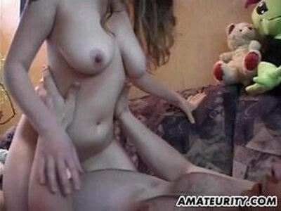 Busty amateur teen sucks and fucks with cum | -busty-cum-cum on tits-girlfriend-teen-