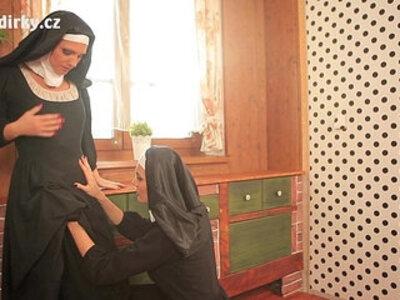NUNS ENJOYING LESBIAN SEX | -czech-enjoying-lesbian-