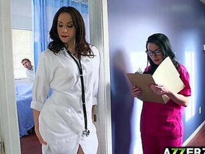 Hot doctor Chanel 3some fuck at the hospital | -3some-doctor-nurse-