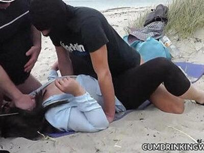 Beach with naughty slutwife Marion | -beach-naughty-swingers-