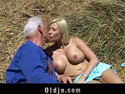 Old farmer man gets fucked by blonde babe | -blonde-old man-older-