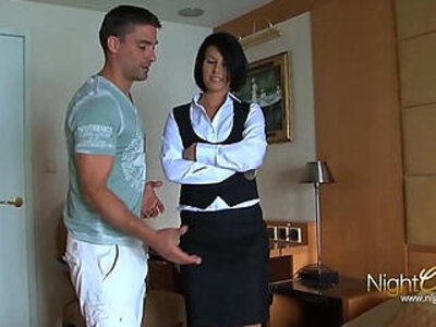 Tricking room maid into fucking me | -babysitter-maid-