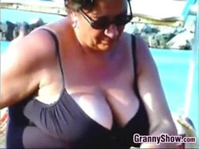 Checking Out Old Russian Breasts At A Beach | -beach-breasts-grandma-older-russian-