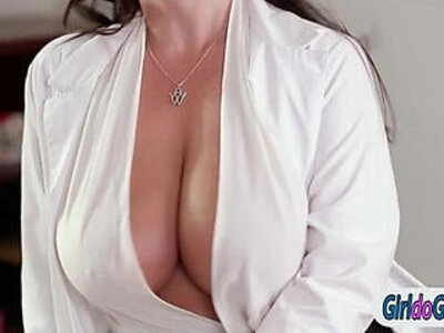 Mia and Georgia and their chiropractor Angela kiss and lick | -ass licking-kissing-licking-
